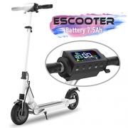 Velocidad m/áxima de 25 km//h Gris Freego Scooter el/éctrico de 8.5 Pulgadas Scooter de Transporte Ligero y Plegable para Adultos y Adolescentes 250 W de Potencia neum/áticos no neum/áticos